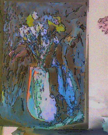 Скромные цветы в скромной вазе - Геннадий Рыбалко
