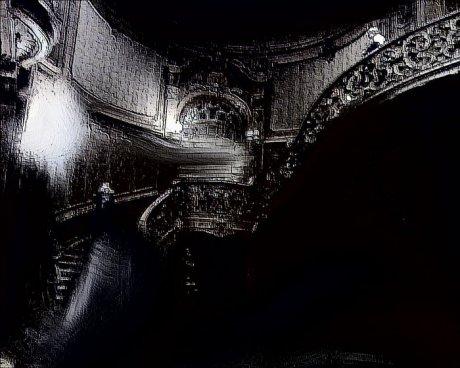 Модерный интерьер с крутой лестницей - Геннадий Рыбалко