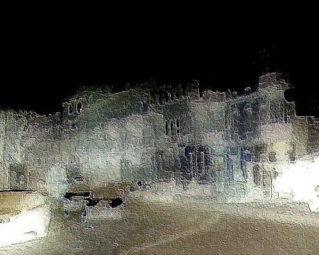 Ночной город при освещении – Генадия Рыбалко