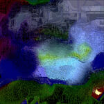 Абстрактная композиция  «Водопад»