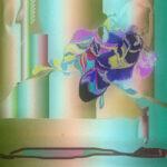 Пчела на фоне абстрактной композиции + 0